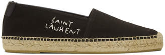 Saint Laurent Black Logo Espadrilles