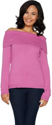 Joan Rivers Classics Collection Joan Rivers Fold Over Knit Sweater
