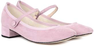 Repetto Rose Ball suede pumps