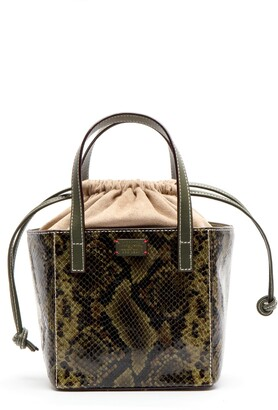 Frances Valentine Moxy Snake Embossed Leather Tote