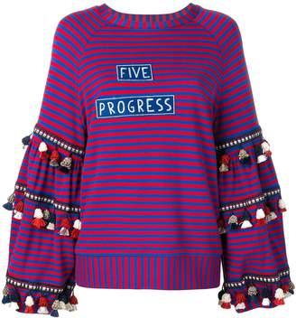5 PROGRESS tassel embellished sweatshirt