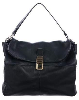 Lanvin Colorblock Flap Leather Satchel