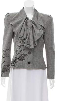 John Galliano Wool Herringbone Jacket