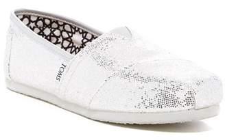 Toms Silver Glitter Slip-On Sneaker