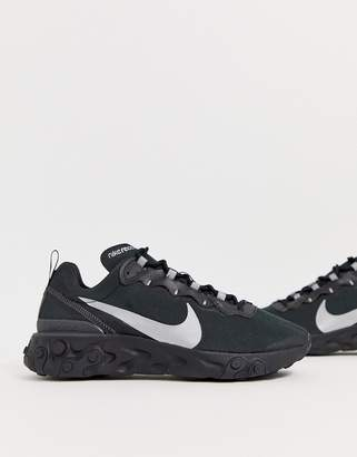 Nike React Element 55 trainers in black