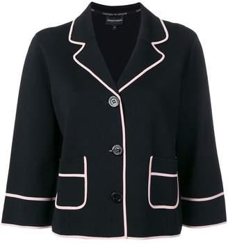 Emporio Armani cropped sleeve blazer