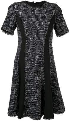 Karl Lagerfeld paneled boucle dress