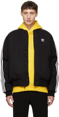 adidas Black Padded MA-1 Bomber Jacket