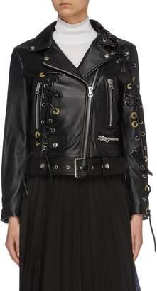 bda14f9d9 Lace Biker Jacket - ShopStyle