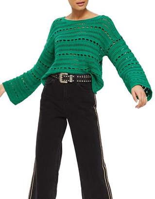 Topshop Open-Stitch Sweater