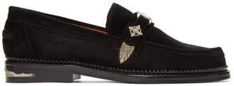 Toga Virilis Black Suede Loafers