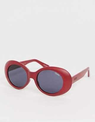 Quay frivolous round sunglasses in red