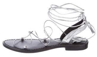 Anine Bing Metallic Multistrap Sandals