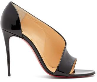8dd4cc47e58 Christian Louboutin Phoebe 100 Patent Leather Pumps - Womens - Black