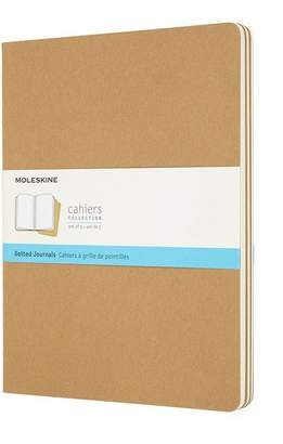 Moleskine CAHIERS DOTTED EXTRA LARGE KRAFT BROWN SET OF 3