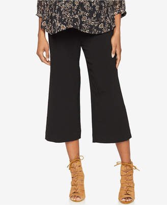A Pea In The Pod Maternity Cropped Wide-Leg Pants $78 thestylecure.com