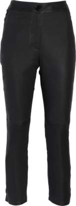 Yigal Azrouel Leather Side Slit Flared Pants