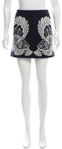 Stella McCartneyStella McCartney Wool Embroidered Mini Skirt