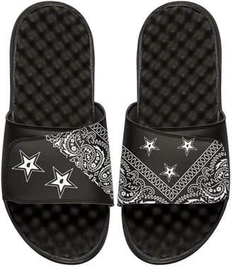 ISlide Bandana Slide Sandal, Black $55 thestylecure.com