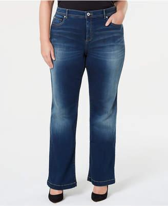 INC International Concepts I.n.c. Plus Size Tummy Control Bootcut Jeans