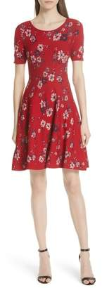 Milly Twilight Floral Fit & Flare Dress
