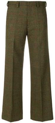 Maison Margiela fancy check cropped trousers