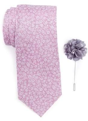 Ben Sherman Park Floral Tie, Pocket Square, & Lapel Stick Pin Set $75 thestylecure.com