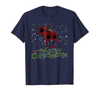 Buffalo David Bitton Merry Christmoose T-Shirt Plaid Christmas Shirt