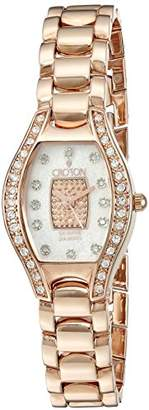 Croton Women's CN207534RGPV Analog Display Quartz Rose Gold Watch