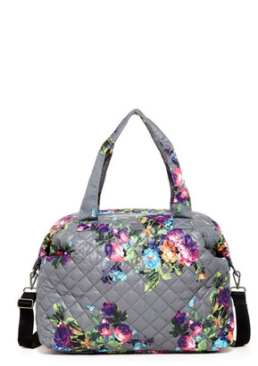 Steve Madden Quilt 2S Quilted Nylon Weekend Bag $78 thestylecure.com