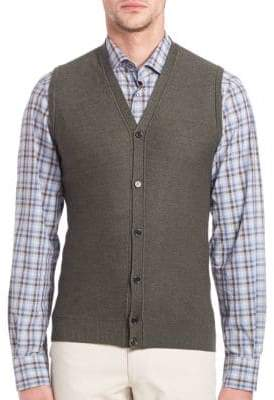 Saks Fifth Avenue Merino Wool & Silk Sweater Vest