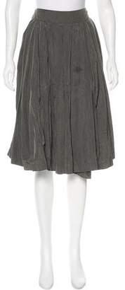 Dries Van Noten Pleated Knee-Length Skirt