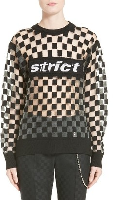 Women's Alexander Wang Checkerboard Pullover $595 thestylecure.com