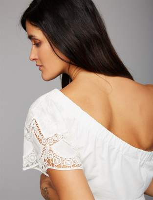 A Pea in the Pod Embroidery Maternity Top