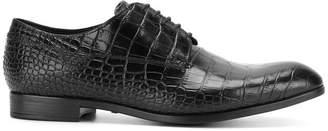 Emporio Armani crocodile embossed Derby shoes