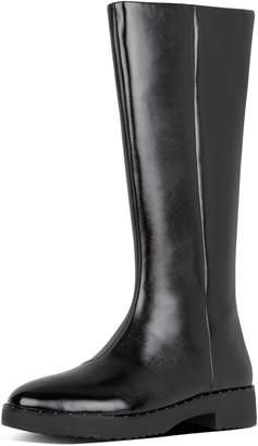 FitFlop Mari Safferano Textured Patent Knee-High Boots