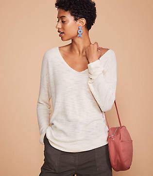Lou & Grey Texturist V-Neck Sweater