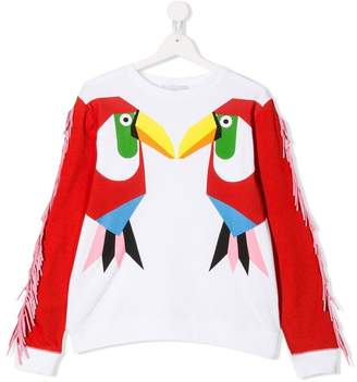 Stella McCartney TEEN Tucano print sweatshirt