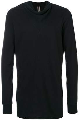 Rick Owens funnel v neck detail jumper