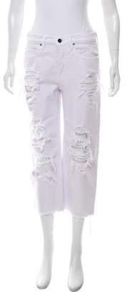 Alexander Wang Denim x Mid-Rise Straight-Leg Jeans