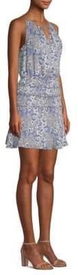 Parker Lisa Keyhole Printed Silk Tank Dress
