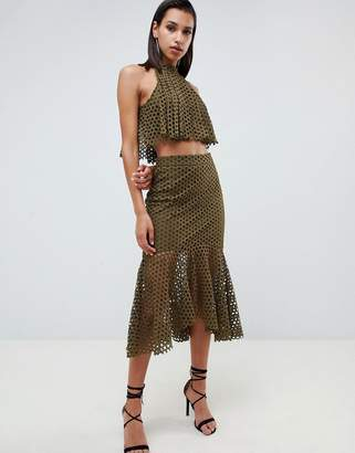 Forever Unique Forver Unique lace top and skirt set