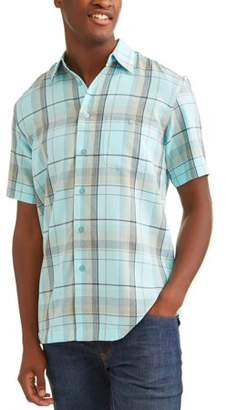 George Big and Tall Men's Short Sleeve Microfiber Shirt