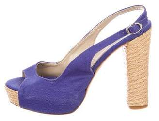 Castaner Canvas Slingback Pumps
