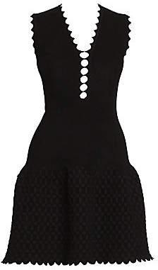 Alaia Women's Peek-A-Boo Croisée Sleeveless Knit A-Line Dress