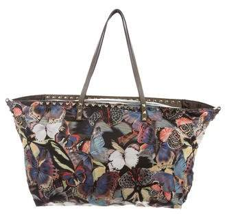 Valentino Camu Butterfly Rockstud Tote