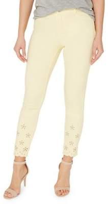 Dorothy Perkins Frankie Broderie Ankle Grazer Jeans