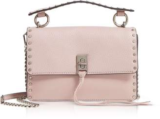 Rebecca Minkoff Vintage Pink Leather Darren Top Handle Flap Crossbody
