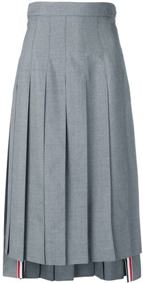 Thom Browne high-waist pleated skirt
