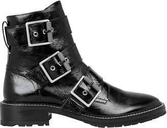 Rag & Bone Cannon Black Buckle Boots